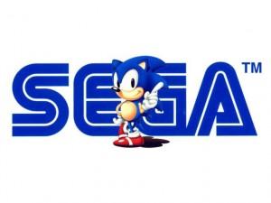 Sega Logo mit Sonic