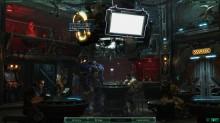 Die Messer eurer Basis dem Raumschiff Hyperion: wer auf den Automaten im Hintergrund klickt, darf nen 2D-Top-Down-Shooter zocken.