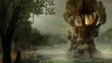 Atmosphärisches Artwork, maue Ingame-Spielwelt